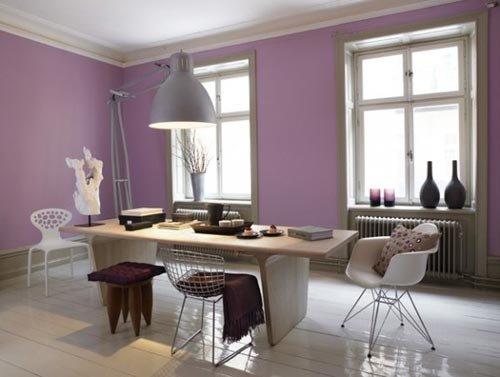 Lila-Rengi-Duvar-Boyası-Dekorasyonu-6 Lila Rengi Duvar Boyası