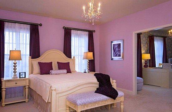 Lila-Rengi-Duvar-Boyası-Dekorasyonu-8 Lila Rengi Duvar Boyası