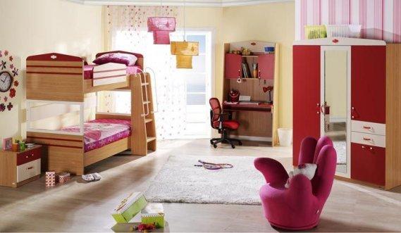 Merdivenli-ranzalı-genç-odası Ranzalı Çocuk ve Genç Odası Takımları