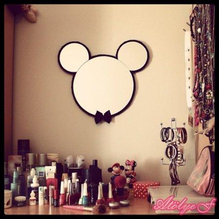 Mickey-Mouse-Bebek-Odası-Dekoratif-Ayna-Tasarımı Bebek Odaları İçin Dekoratif Aynalar