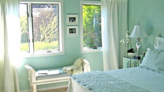 Mint Yeşili Yatak Odası Dekorasyonu