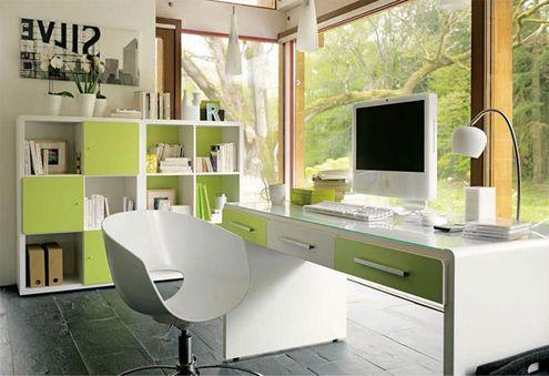 Modern-Çalışma-Köşesi-Mobilyası Evlerde Çalışma Köşesi Mobilyaları
