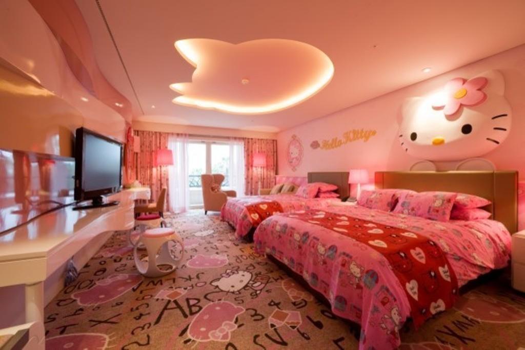 Modern-Çocuk-Odası-Asma-Tavan-Modeli Genç Odası Asma Tavan Modelleri