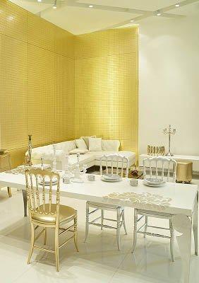 Modern-Altın-Renkli-Dekor-Örneği Altın Rengi ile Yaratabileceğiniz Dekoratiflikler