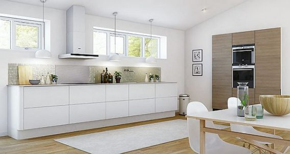 Modern Beyaz Mutfak Dolabı