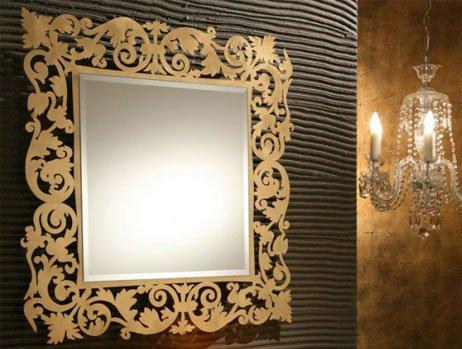 Modern-Kare-Varak-Ayna-Modelleri Dekoratif Varak Ayna