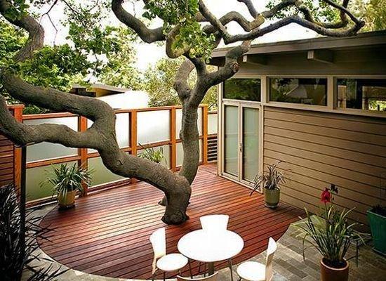 Modern-Teras-Çatı-Bahçeleri Çatı Bahçesi Modelleri