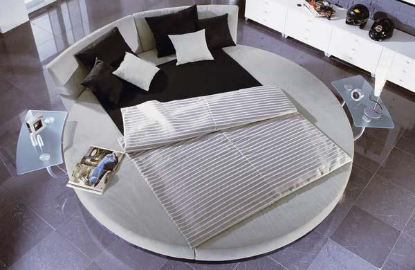 Modern-Yuvarlay-Yatak-Başlık-Modeli Yuvarlak Yatak Başlıkları