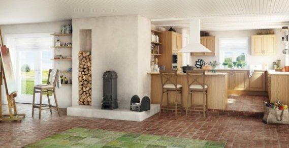 Mutfak-Şömine-Odun-Depolama-Çözümleri Şömineler İçin Odun Depolama Çözümleri Fikirleri