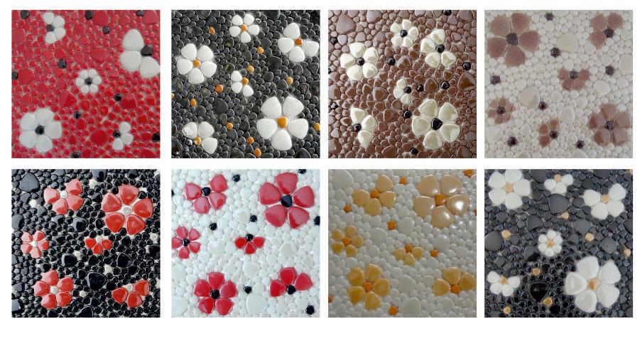 Mutfak-Tezgah-Arası-Cam-Mozaikler Mutfak Cam Mozaik Modelleri