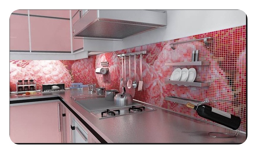 Mutfak-Tezgah-Arasi-Cam-Mozaik-Modelleri Mutfak tezgah arası cam mozaik modelleri