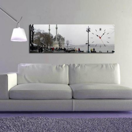 Ortaköy-Temalı-Canvas-Duvar-Saati Canvas Duvar Saati Modelleri
