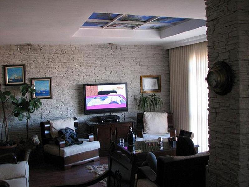 Oturma-Odası-Patlatma-Taşları Patlatma Taş Duvar Dekorasyonu Modelleri