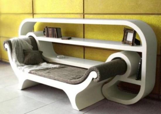 Oturmalı-İlginç-Kitaplık-Modeli Farklı ve İlginç Kitaplık Tasarımları