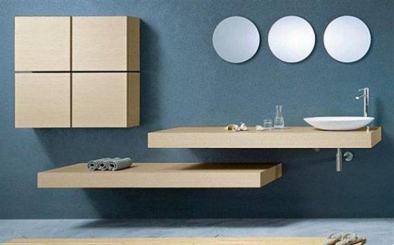 Parçalı-Modern-Banyo-Aynası-Dizaynı Modern Banyo Aynası Tasarımları