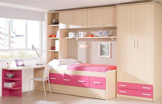 Pembe-kız-genç-odası-modeli İlginç Genç Odaları