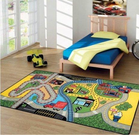 Pistli-Erkek-Çocuk-Odası-Halısı Çocuk Odası Halı Modelleri