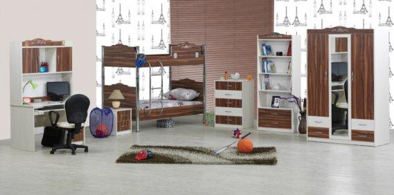 Ranzalı-genç-odası-dekorasyonu Ranzalı Çocuk ve Genç Odası Takımları