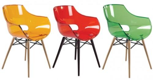 Renkli-Şeffaf-Sandalye-Modelleri Şeffaf Sandalye Modelleri