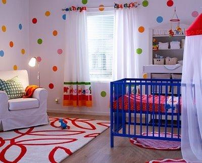 Renkli-Bebek-Odası-Perde-Modeli Bebek Odası Perde Modelleri