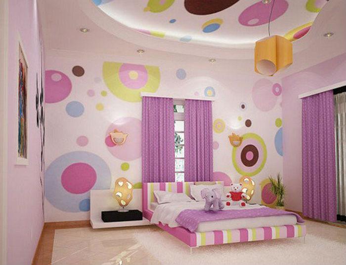 Renkli-Genç-Odası-Asma-Tavan-Modelleri Genç Odası Asma Tavan Modelleri