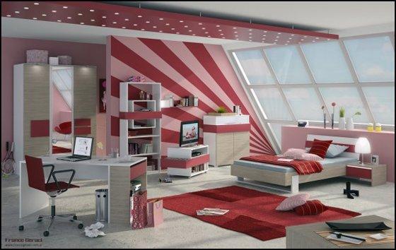 Renkli-tasarımlı-genç-odası İlginç Genç Odaları