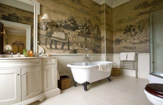 Resimli-Banyo-Duvar-Kağıdı Banyo Duvar Kağıdı Modelleri