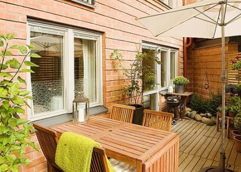 Rustik Balkon Dekor Mobilyaları