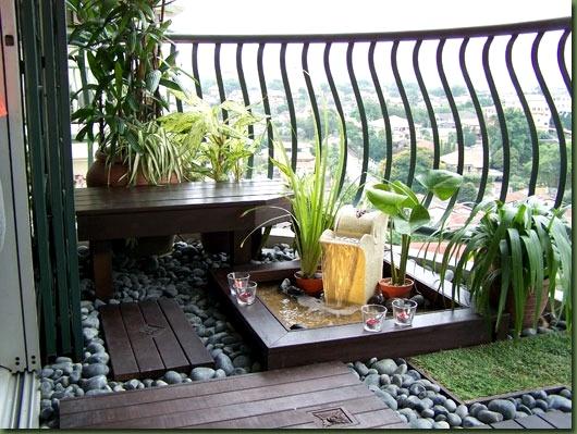 Rustik-Balkon-Dekor-Resmi Balkonlarda Rustik Dekorasyon Fikirleri