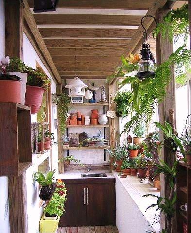Rustik-Balkon-Dekorasyon-Fikirleri Balkonlarda Rustik Dekorasyon Fikirleri