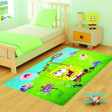 Sünger-Bob-Çocuk-Odası-Halısı Çocuk Odası Halı Modelleri