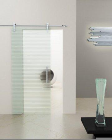 Sürgülü-Çizgi-Desenli-Cam-Kapı Sürgülü Cam Kapı Modelleri