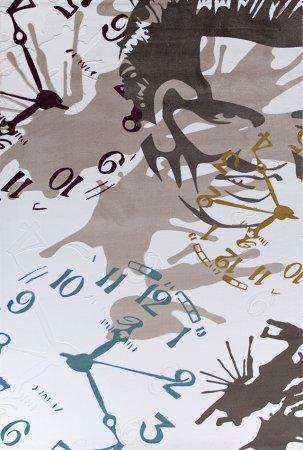 Saat-içerikli-bahariye-pop-art-halı Bahariye Pop Art Halı