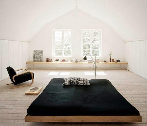 Sade-Japon-Tarzı-Yatak-Odası-Örneği Japon Tarzı Yatak Odaları