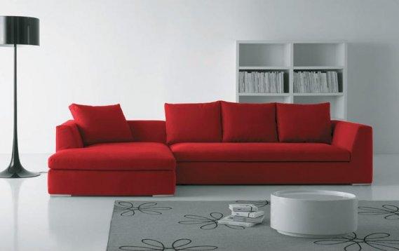 Sade-Kırmızı-Köşe-Koltuk-Mobilya-Modeli Kırmızı Köşe Takımları
