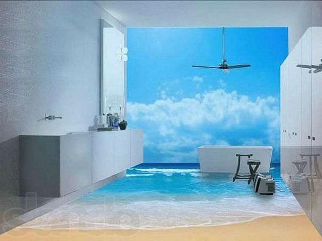 Sahil-3D-Sıradışı-Banyo-Zemin-Kaplama Sıradışı Zemin Kaplamaları