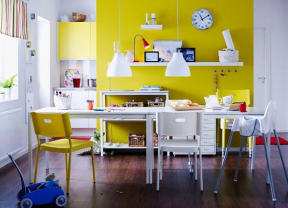 Sarı-Yemek-Odası Yemek Odalarında Sarının Ahengi