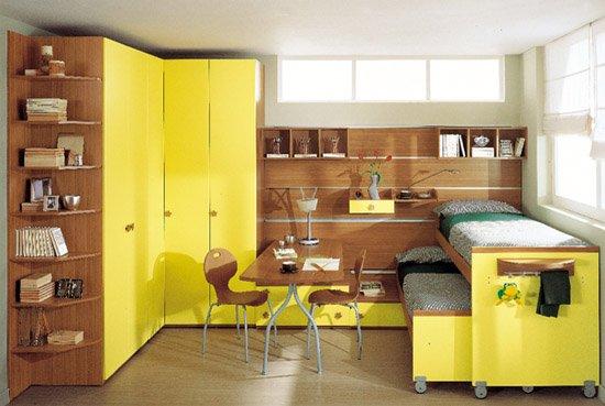 Sarı-kahverengi-genç-odası-modeli İlginç Genç Odaları