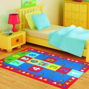 Sek-Sek-Çocuk-Odası-Oyun-Halı-Modeli Çocuk Odası Halı Modelleri