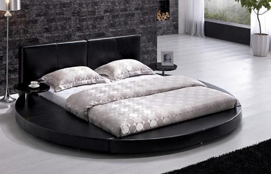 Siyah-Yuvarlak-Yatak-Başlığı Yuvarlak Yatak Başlıkları