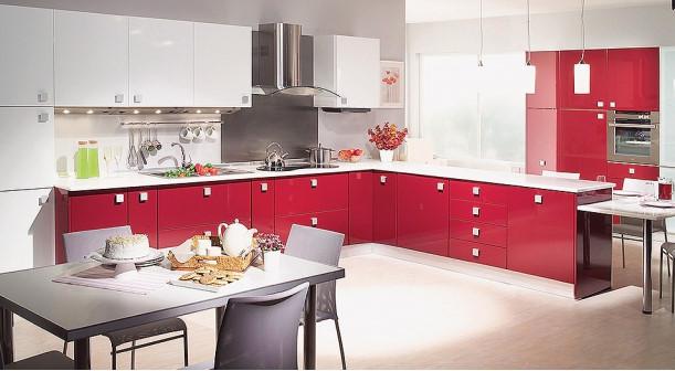 Verna-HG-Bordo-HG-Beyaz Kelebek Mutfak Modelleri 2018