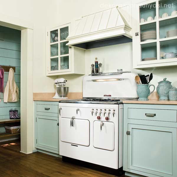 Vintage-Mutfak-Dolapları-12 Vintage Mutfak Modelleri