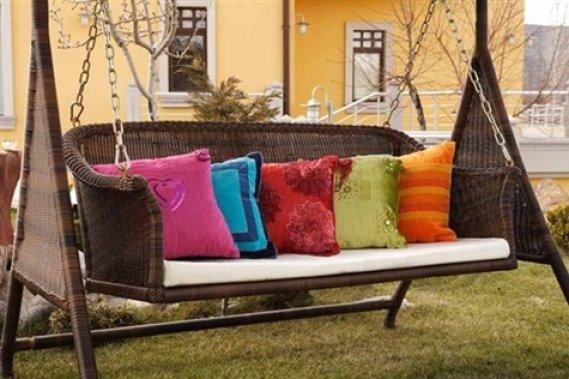 Yastıklı Hasır Bahçe Salıncak Modeli