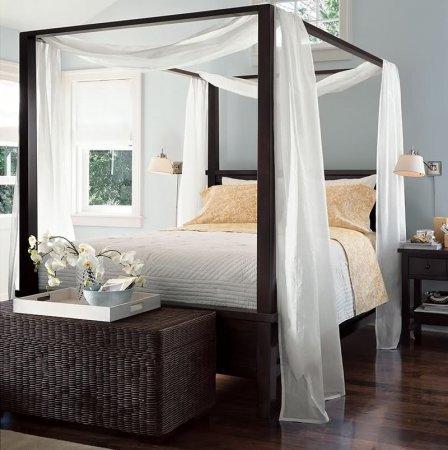 Yatak Odası Ahşap Cibinlik Modeli