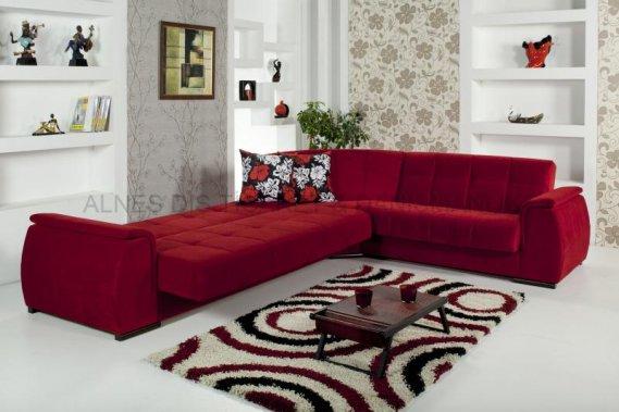 Yataklı-Kırmızı-Köşe-Koltuk-Modeli Kırmızı Köşe Takımları