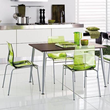 Yeşil-Şeffaf-Sandalye-Modeli Şeffaf Sandalye Modelleri