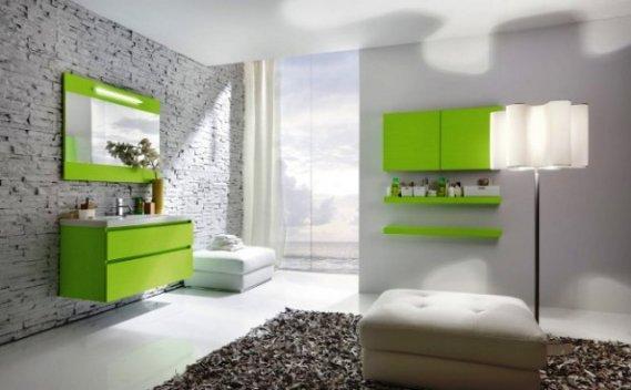 Yeşil Modern Banyo Aynası