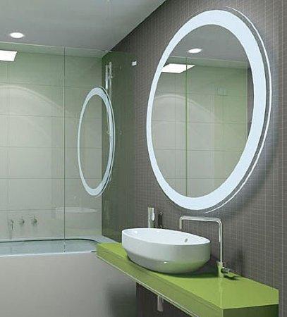 Yuvarlak-Modern-Banyo-Aynası-Modeli Modern Banyo Aynası Tasarımları