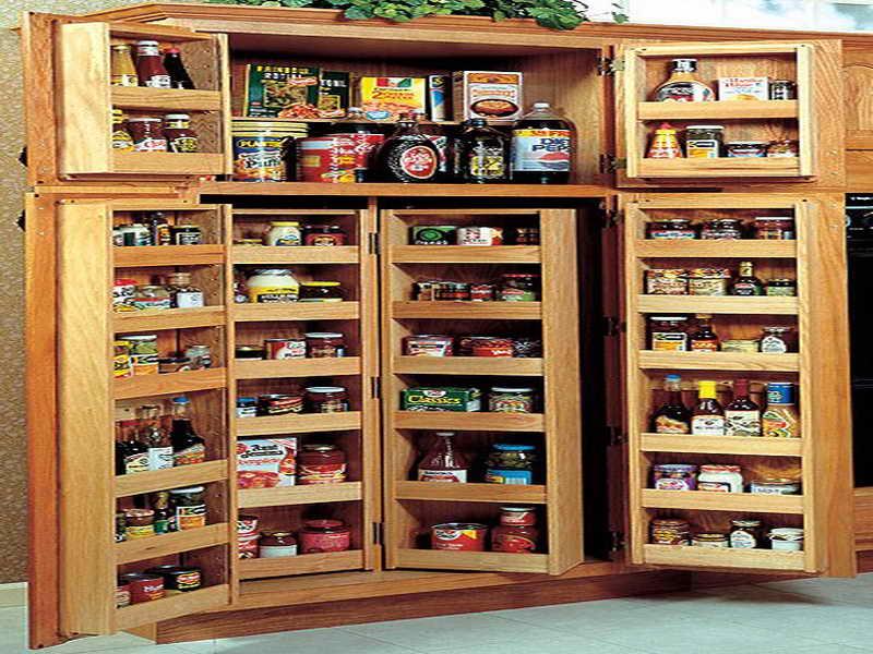 ahşap-mutfak-kiler-dolap-modeli Modern Kiler Dolabı Modelleri