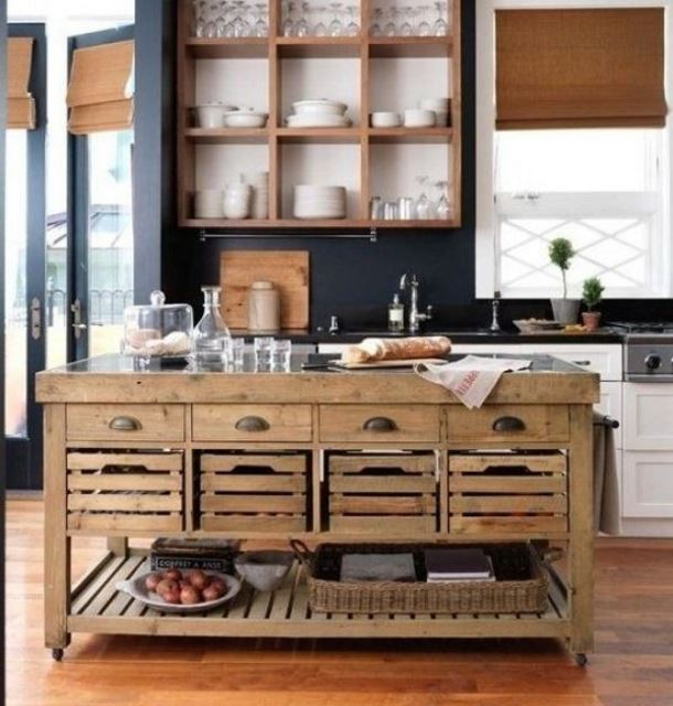 ahsap-adali-vintage-mutfak-dekorasyonu-2016 Vintage Mutfak Modelleri